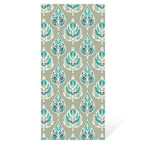Orientalische Blättern (banjado - Wechselscheibe 26x56cm für Wandleuchte Wandlampe Ikea Gyllen Orientalische Blätter, Motivscheibe Wechselscheibe)