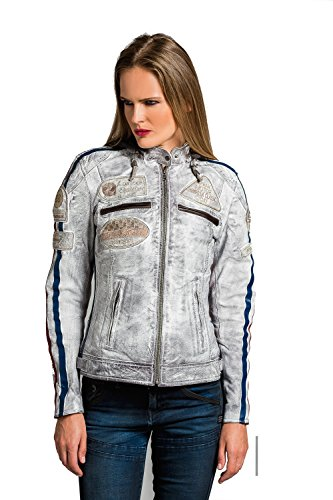 Urban Leather 58 Chaqueta de Damas, Vintage Gris