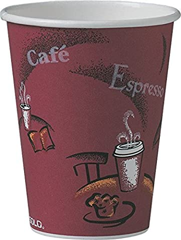 SOLO 412SIN-0041 Single-Sided Poly Paper Hot Cup, 12 oz. Capacity,