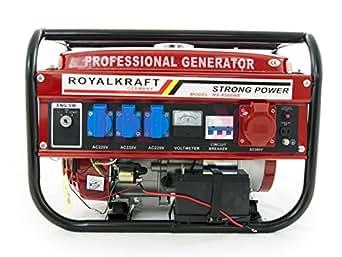 Gruppo elettrogeno/Generatore di corrente 8500W - 220/380V con ruote