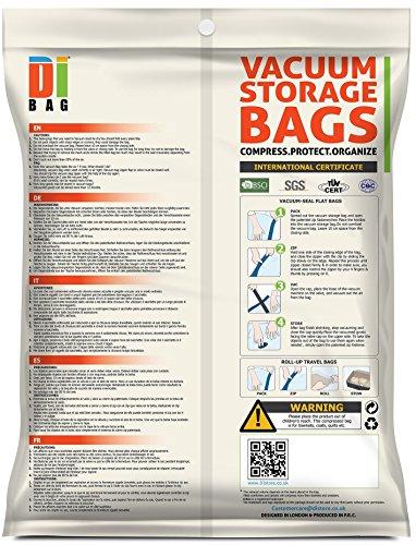 DIBAG ®  14 Piezas Set   Bolsas ahorradoras de espacio para ropa  edredones  mantas y almohadas. . 4x(45*57cm) + 3x (67*100cm) + 4x (54*85cm) +3x (57x45 cm) bolsas de viaje sin aspiración