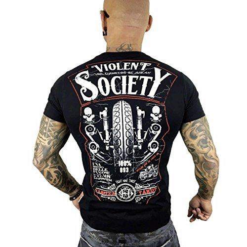 Yakuza Original Herren Violent Society T-Shirt Schwarz