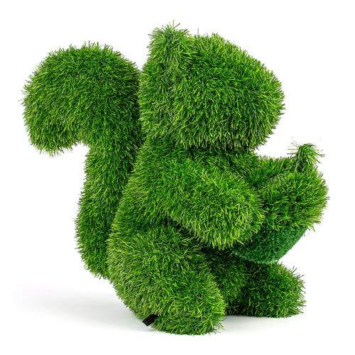 Kögler Grasfigur Eichhörnchen, AniPlants, Gartendekoration inkl. Befestigungsstifte, Dekofigur Kunstrasen, wetterfest, Höhe 38cm