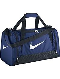 Nike Brasilia 6 Duffel Small - Bolsa unisex, color azul / negro / blanco, talla única