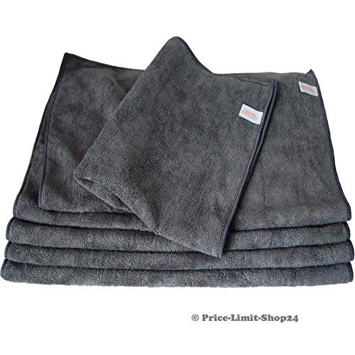 Price-Limit-Shop24 Microfaser Tücher Tuch Mikrofaser Poliertücher Premium XL Boden 50 x 60 cm Grau 5 Stück (XL)