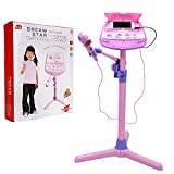 Kids Karaoke Microphone Musical Toys - Wishtime ZM16038 Kids Pink Karaoke Adjustable St