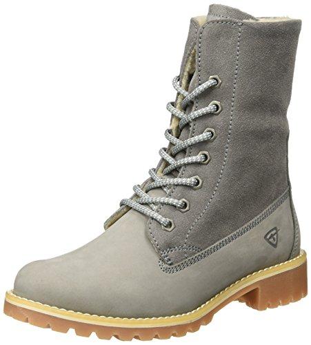 Tamaris Damen 26443 Combat Boots, Grau (Grey), 38 EU