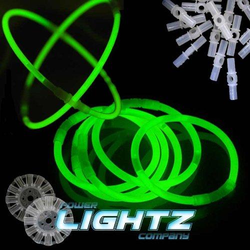 100 Knicklichter 20cm x 0,5cm grün, Glowsticks, Leuchtstäbe, Mega Trendfarben, Neueste Generation
