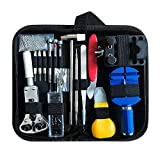 Forepin 147pcs Kit di Riparazione Orologi Professionale orologiaio Spring Bar Tool set, Watch Band Link pin Tool set, fondello Opener chiave inglese, con custodia in nylon