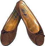 Ballerinas Brisbane - in Schlangenprägung Dunkel-Braun Aus Echtem Leder (38)