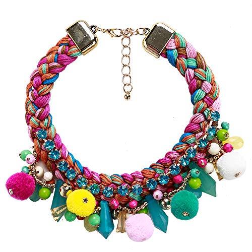 JHAYBB Frauen Europa Fashion Halsketten Parteien Kostüme Zubehör Schlüsselbein Ketten Cute Hair Balls ()