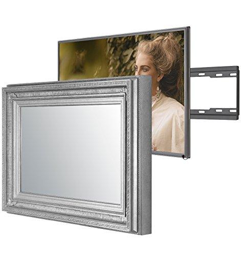 Regency Antike Möbel (Handgemacht Eingerahmter Spiegel TV mit Samsung UE32M5520 um diesen versteckt Verspiegelten Fernseher in Ihrem Zuhause oder Ihrer Business Ausstattung zu integrieren (32 Zoll, Regency Silber))