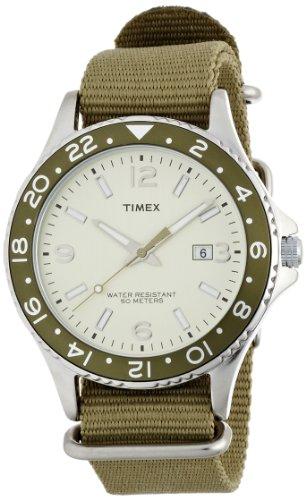 Timex Classic T2P035PF - Reloj de cuarzo para hombres, correa de nylon, color verde