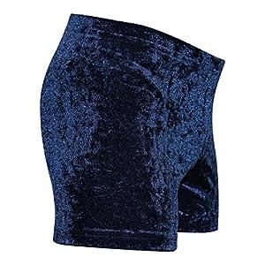 GymStern Shorty Turnhose aus bi-elastischen Crash Samt in Dunkelblau oder Schwarz
