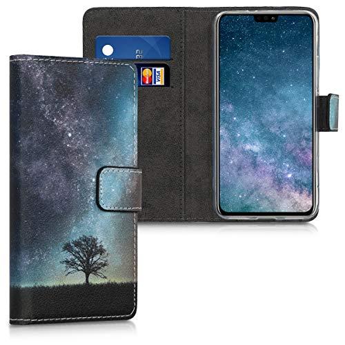 kwmobile Huawei Honor 8X Hülle - Kunstleder Wallet Case für Huawei Honor 8X mit Kartenfächern & Stand