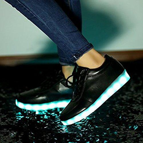 [Présents:petite serviette]JUNGLEST® KE Unisexe Multicolor USB Rechargeable Etanche 11 Chaussures Led Lumière Nuit Courir Chaus Black