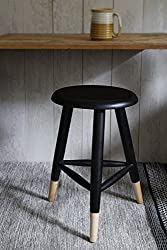 Store Indya Coffee Table Wooden Modern Black Medium-Sized Tree-Legged Sitting Stool For Bar/Counter/Home