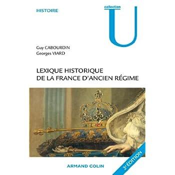 Lexique historique de la France d'Ancien Régime