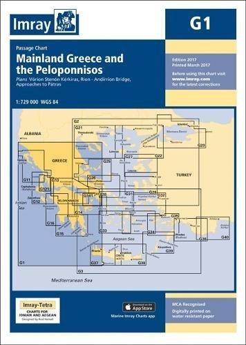 Imray Chart G1: Mainland Greece and the Peloponnisos (G Series, Band 1) (Charts Imray)