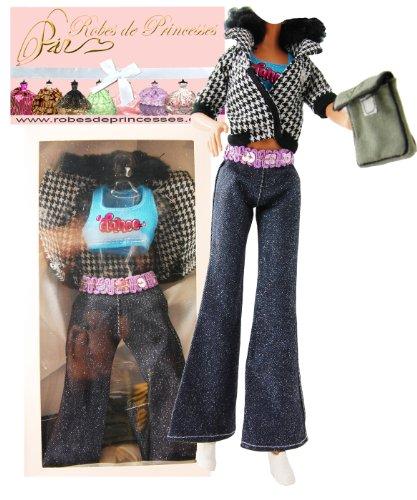 """Vestito da principessa """"ALEXIA"""" per Bambole Barbie, Disney ed altri personaggi."""