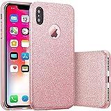 Coque iPhone XS/X 2018, Coque Silicone Paillette Strass Brillante Bling Bling Glitter...