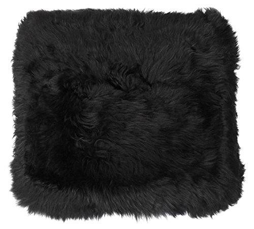 Sitzkissen aus bestem Lammfell hochwollig, Farben:schwarz