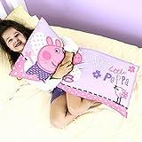 Peppa Wutz Pig XXL Kinder Kuschelkissen Sofakissen 80x40cm großes Mikrofaser