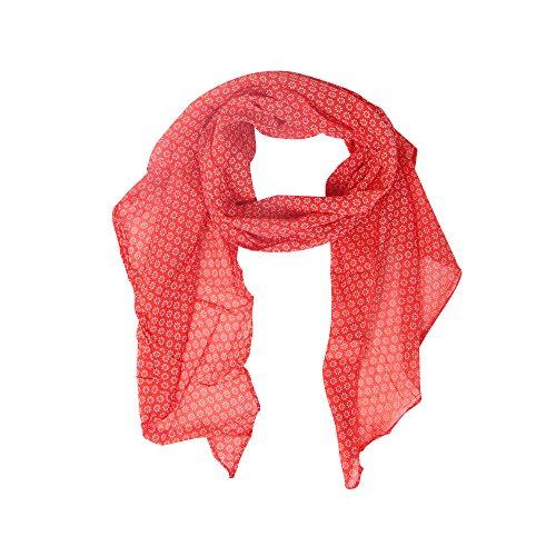 Zwillingsherz Seiden-Tuch mit Blümchen Print - Hochwertiger Schal für Damen Mädchen - Halstuch - tuchschal - Loop - Schlauchschal - weicher Damenschal für Sommer Herbst und Winter Frühling