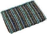 Guru-Shop Perlen Portemonnaie, Kosmetiktasche mit Perlenverzierungen - Blau, Herren/Damen, Size:One...
