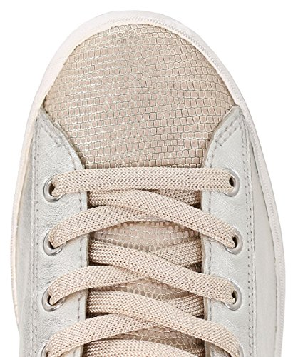 Crime London Chaussures Baskets en Cuir Or Femme Platine