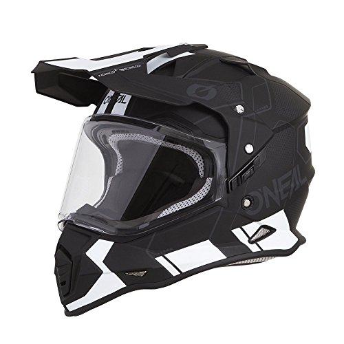 O'Neal Sierra Comb Adventure Enduro MX Motorrad Helm schwarz/weiß 2020 Oneal: Größe: M (57-58cm)