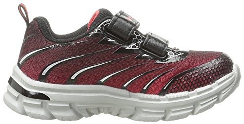 Skechers Mädchen Nitrate Sneaker, Charcoal/Schwarz Rot / Schwarz