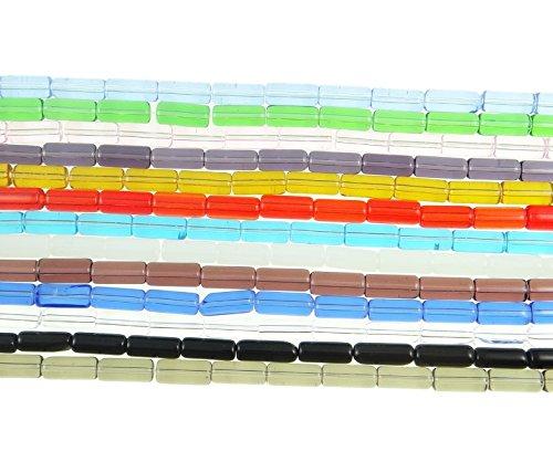25Perle di Vetro Cilindro cristallo multicolore Top ware 14mm R333