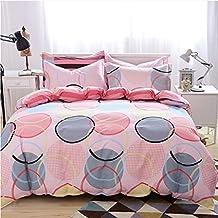 Ropa de cama Conjunto de cuatro piezas Juego de cama de algodón de lino cubierta del edredón funda de almohada múltiples tamaños de los círculos ( Tamaño : 1.35m Bed )