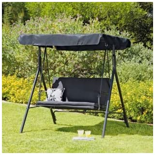 Argos 2 Seater Garden Swing Chair - Black