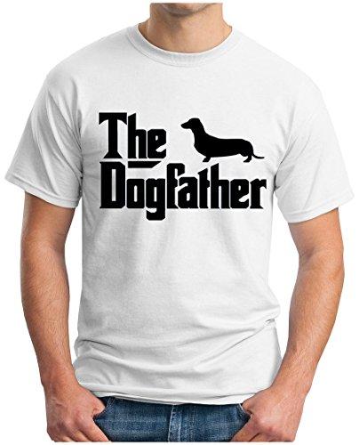- T-Shirt Mafia Drugs Little Italy Geek The Godfather Fun Emo Hund Parodie, 5XL, Weiß (Pudel-rock Für Hunde)