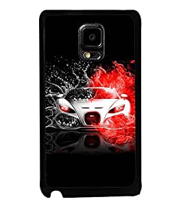 Fuson Premium 2D Back Case Cover Stylish car With pink Background Degined For Samsung Galaxy Note Edge::Samsung Galaxy Note Edge N915
