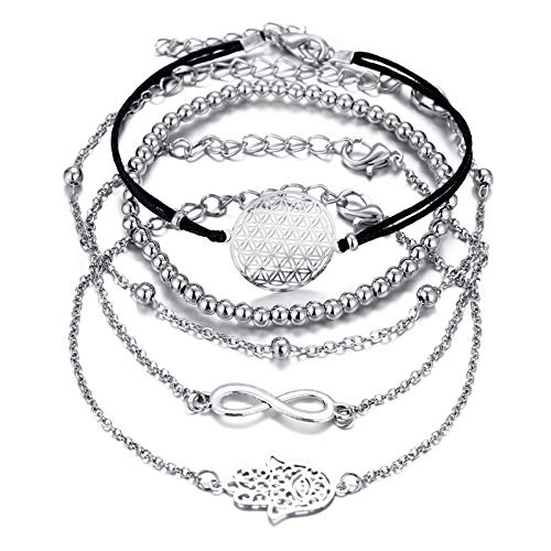 YSHOUTAD Europäische und amerikanische Armbänder, Kreatives Armband Lucky 8 Palms Five Bracelets Women