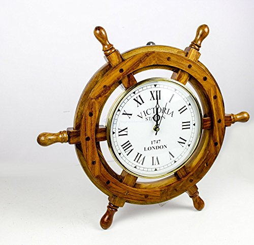 Nautical Premium Clock Wheel | Maritime Home Decor | Nagina International (16 Inches) (Uhren Männer Replik)