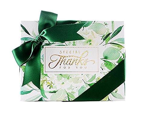 klare grüne Hochzeit Partei liefert Geburtstagsparty liefert Weihnachtsgeschenk-Boxen mit Band 20 Stück (Bonbons oder Pralinen nicht enthalten)