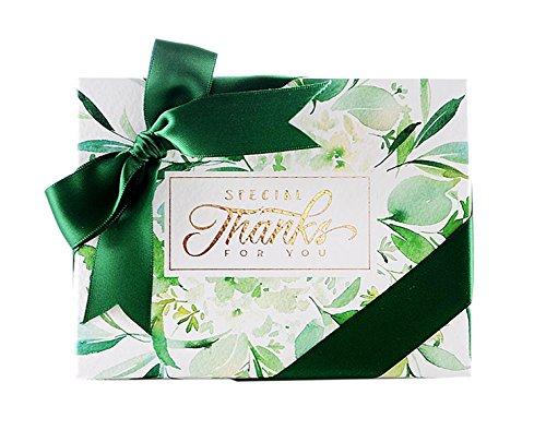 r Geschenk-Box elegant Süßigkeiten Verpackung Schokolade Geschenke Kästen für süße Hochzeit 10 Stück (Bonbons oder Pralinen nicht enthalten) ()