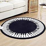 LYX1,Teppich Fußmatten Klavier-rundes Schlafzimmer-Wohnzimmer-Kaffeetisch-Nachttisch-Computer-Stuhl-Decke (größe : 120 * 120cm)