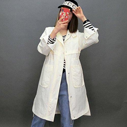 Damen Trench Coat Uni