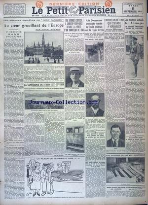 PETIT PARISIEN DERNIERE EDITION DE 5 HEURES (LE) [No 20279] du 06/09/1932