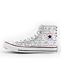 brand new 07281 6b838 Converse Personalizzate con borchie All Star Alta - scarpe artigianali -  Lettera