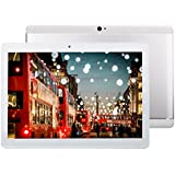 Fonxa Tablette 10.1 pouces avec Protection de Cas, Full HD Screen 1920 x 1200, Dual SIM 3G Tablette tactile Quad Core, Métal Shell, Argenté