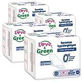 Love & Green Serviettes Hypoallergéniques Nuit 0% x 10 - Lot de 4