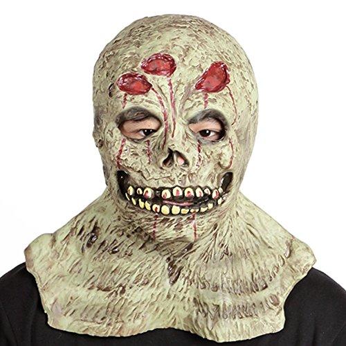 RUNTAR Monster Zombie Bloody Maske Latex Cosplay Evil Clown Maske Adult Halloween Kostüm Maske für Party Show Spaß Aktivitäten Bars (Clown Kostüm Streich)