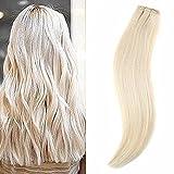Ugeat 16 Zoll/40cm One Piece Remy Clip in Hair Extensions #613 Gebleichtes Blond 100% Echt Brasilianisch Naturliches Menschliches Haar Extensions