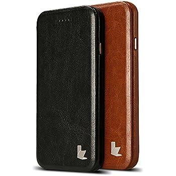 Jisoncase ELEGANT Tasche Hülle in Retroschwarz für das Apple iPhone 6 und iPhone 6s ultra-schlanke Case Handyhülle mit Aufstellfunktion iPhone6 6s Schutzhülle Handytasche JS-I6S-05M10